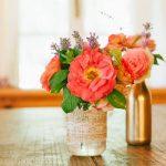 Wohnung Teichblick mit Blumen