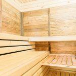 Finische Sauna im Innenbereich